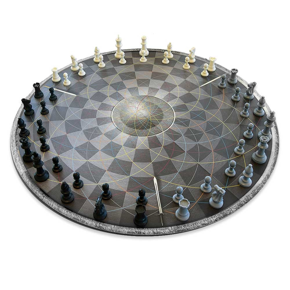 Chess for Three - Schaakbord om met z'n drieën te spelen